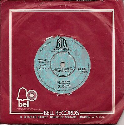 £2.99 • Buy The Box Tops Cry Like A Baby UK 45 7  Single +The Door You Closed To Me