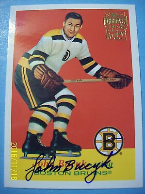 $ CDN49.99 • Buy 2001-02 Topps (Archives) #17 Autographed SP Of 57-58 Topps #10 Johnny Bucyk RC!