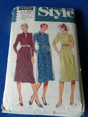 £3.50 • Buy Vintage Style Sewing Pattern - Lady's Dress In 3 Versions  1979  Size 12