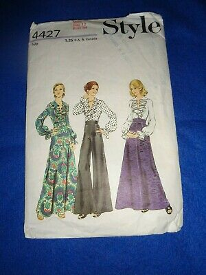 £3.50 • Buy Vintage Style Sewing Pattern - Lady's Wrap Blouse/skirt/trousers  1973  Size 12