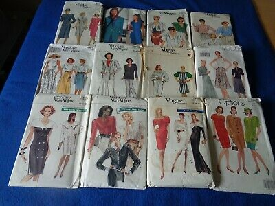 £4.99 • Buy 27 Vintage Vogue Sewing Patterns For Lady. Mixed Items & Sizes Inc. Multi Size