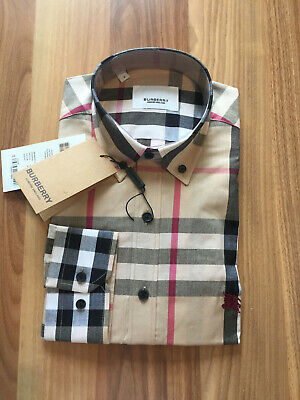 $59 • Buy Burberry **** Beige Color Long Sleeve Button Down Cotton Shirt Size Small