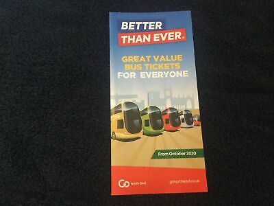 £2 • Buy Go North East Better Than Ever Bus Ticket Leaflet