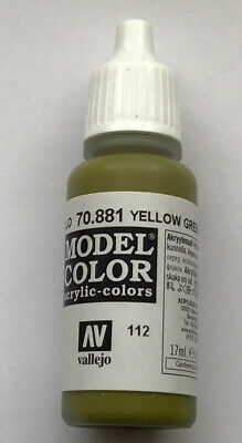 £3.35 • Buy Vallejo Model Color: Yellow Green - VAL70.881 Acrylic Paint 17ml Bottle