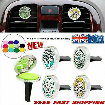 AU9.86 • Buy FRAGRANCE & ESSENTIAL OIL DIFFUSER Stainless CAR AIR VENT FRESHENER AromatheraEA