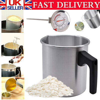 £10.79 • Buy Wax Melting Pot Pouring Pitcher Jug Aluminium Candle Soap Make Thermometer 1.2L