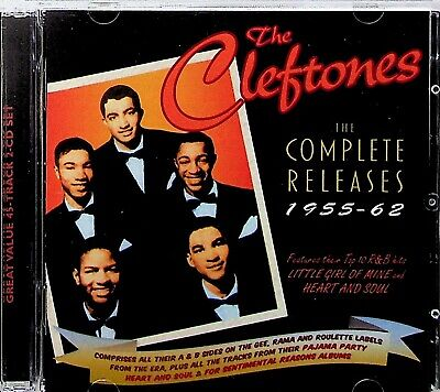 £6.99 • Buy The Cleftones- Complete Releases 1955-62 R&B 2-CD (2018) Best Of/Heart And Soul