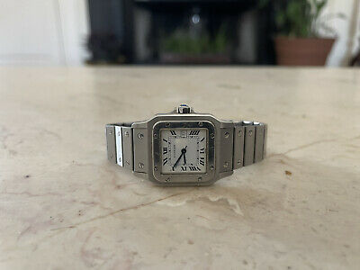 $2893.14 • Buy Vintage Mens Cartier Santos, Automatic, Stainless Steel, With Authenticity Card