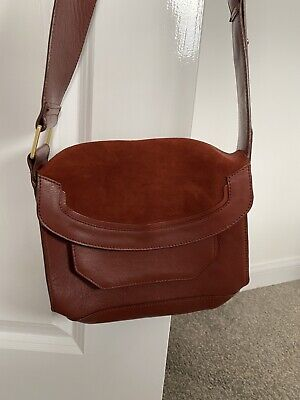 £13.20 • Buy M And S Autograph Leather Rust Satchel Crossbody Bag