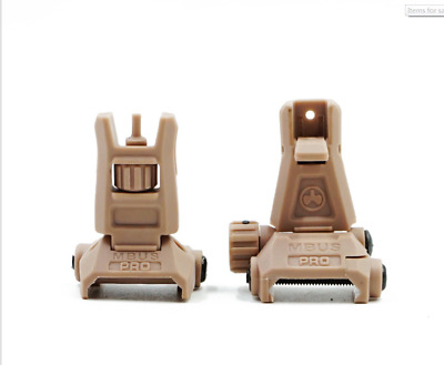 $34.99 • Buy  *NEW*MAGPUL  MBUS Pro Flip Up FRONT & REAR Sight - Sand Color