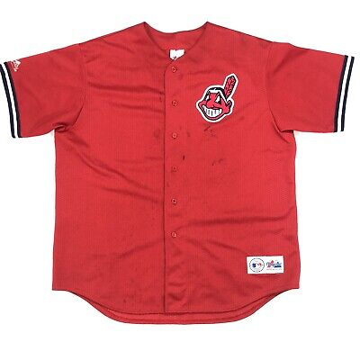 $29.99 • Buy Vintage Majestic Cleveland Indians Mesh Jersey Red MLB Size M USA Made Wahoo 90s