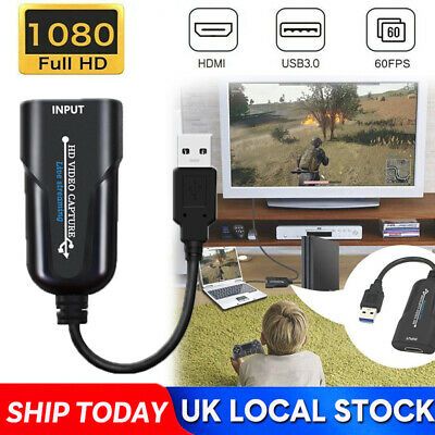 £8.99 • Buy HD 1080P 60fps HDMI To USB 2.0 Port Video Capture Card Record For Live Streaming