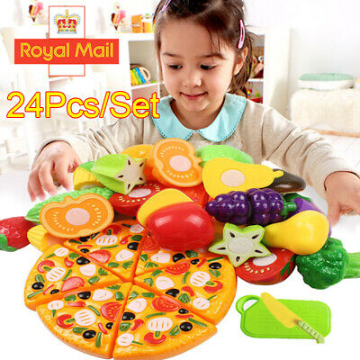 £9.89 • Buy 24Pcs/set Kids Pretend Role Play Kitchen Fruit Vegetable Food Toys Cutting Toys
