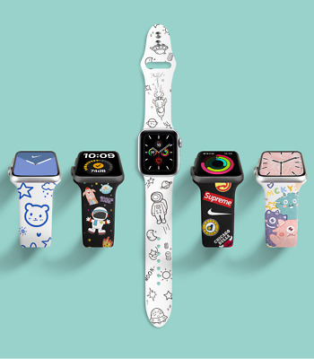 AU14.99 • Buy For Apple Watch Series SE6/5/4/3/2/1 Silicone Soft Strap Rubber IWatch Band Gift