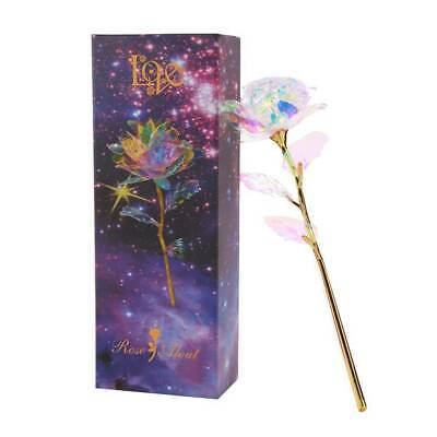 £3.99 • Buy Gold Galaxy Rose Flower Valentines Day Lovers Gift Romantic Flower  With Love UK