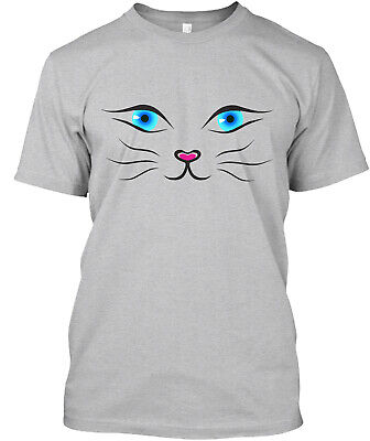 £17.53 • Buy (Blue Eyes) Cat Face Classic T-Shirt - 100% Cotton By Apparel Avenue