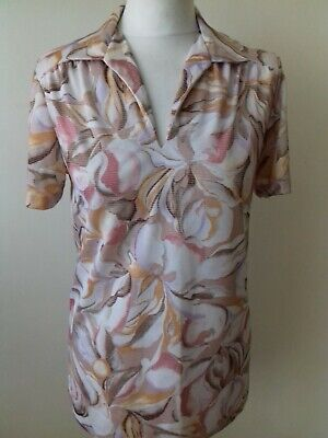 £2.99 • Buy Womens Vintage 1970s Hawaiian Hippy Floral Casual Top Size 12 Summer Festival