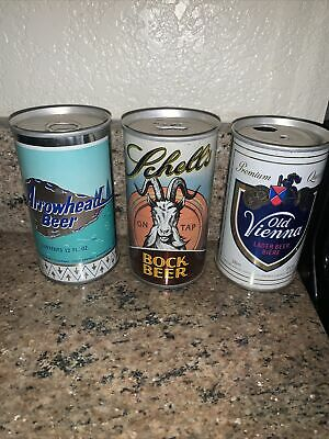 $10.95 • Buy Beer Cans Flat Top Arrowhead Beer Old Vienna Schell Nice Lot Of 3 Old Beer Cans