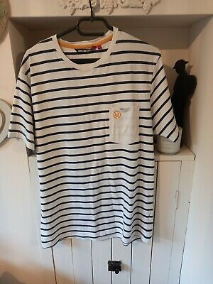 £1 • Buy Men's Duck And Cover Breton T Shirt Size L