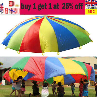£10.69 • Buy 2M Kids Play Parachute Children Rainbow Large Outdoor Game Exercise Sport Toy NL