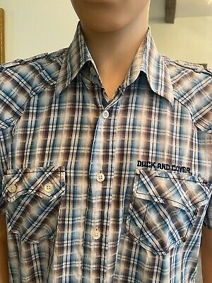 £2.99 • Buy Mens  Duck And Cover  Shirt  Large  Great Condition