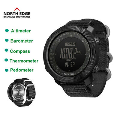 £43.49 • Buy NORTH EDGE Military Army Sports Watch Waterproof Compass Altimeter Swimming