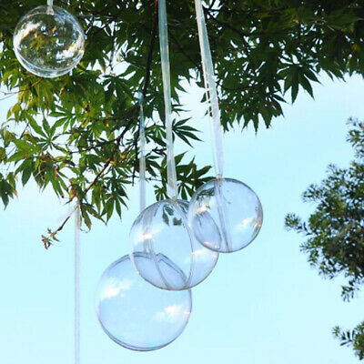 £6.54 • Buy 2 Part Clear Plastic Bauble Acrylic Transparent Sphere Ball - Wedding Xmas Craft