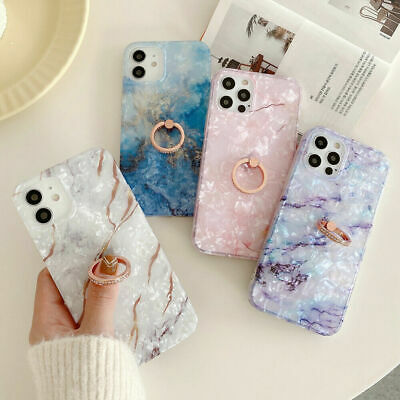 AU9.99 • Buy Sky Marble Phone Case Cover For IPhone 7 8 Plus XR XS 12 11 PRO MAX Ring Holder