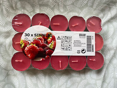£0.99 • Buy IKEA Sinnlig • Scented Candles Tealight Red Coloured Tea Lights Berry