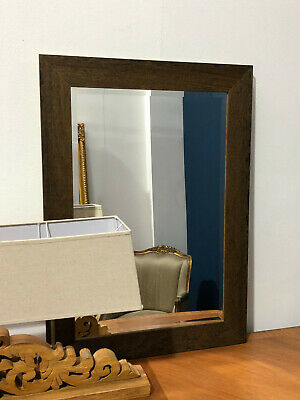£98 • Buy Dark Walnut Stained Wooden Frame Wall Mirror Overmantel Hallway Various Sizes