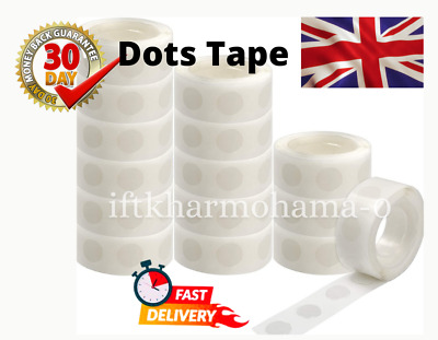 £2.99 • Buy 100 Glue Dots Adhesive Tape Double Sided Sticky Sticker DIY Balloon Clear Decor