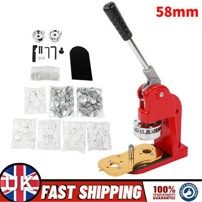 £150.83 • Buy 58mm Badge Maker Machine Making Pin Button Badges Maker With 500 Cutter Kits