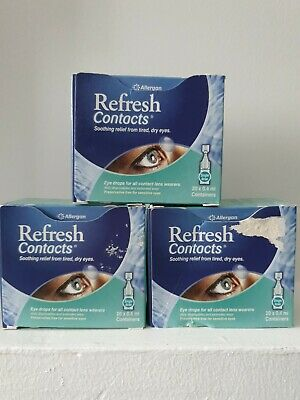 £14 • Buy 3 X Refresh Contacts Eye Drops 20 X 0.4ml, Slightly Damaged Boxes Expiry 12.2021