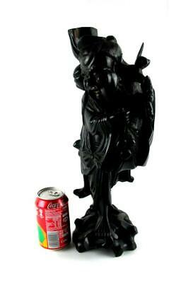£44.95 • Buy Large Chinese Root Wood Carved Figure Lamp Base  42 Cm High