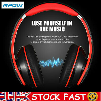 £20.98 • Buy Mpow 059 Wireless Bluetooth Headphones Noise Cancelling Over-Ear Stereo Earphone
