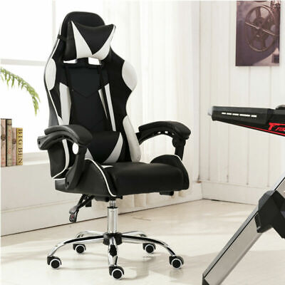 £90.99 • Buy Leather Executive Racing Gaming Computer Office Chair Adjustable Swivel Recliner