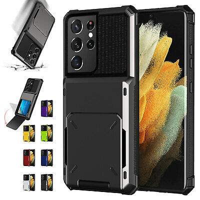 AU11.45 • Buy Shockproof Hybrid Card Case For Samsung Note20 S20 FE S21 Ultra Note10 S10 S9S8+