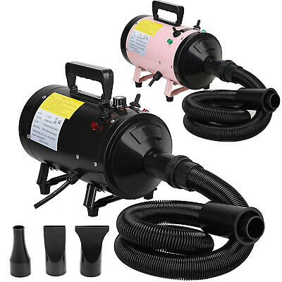 £73.70 • Buy Pet Dog Hair Dryer Blower Blaster Adjustable Stepless Airflow Low Noise 3 Nozzle
