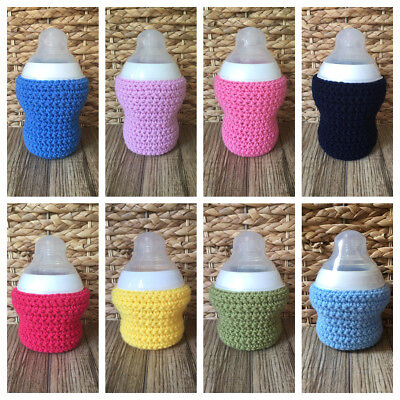 £3.45 • Buy Crochet Baby Bottle Cover - Tommee Tippee Small 150ml/Large 260ml - 10+ Colours