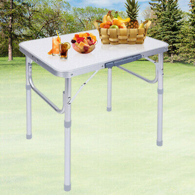 £25.89 • Buy Portable Folding Camping Table Aluminium Carry BBQ Desk Kitchen Outdoor Picnic
