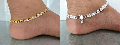 £4.99 • Buy Stunning Diamante Crystal Anklet Payal Indian Bridal Foot Chain Jewellery