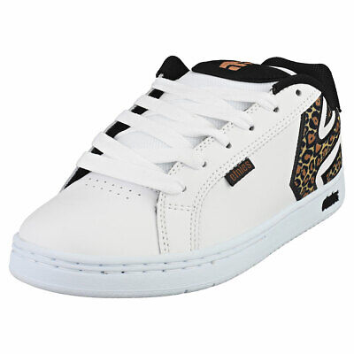 £54 • Buy Etnies Fader Womens White Black Leather & Synthetic Skate Trainers