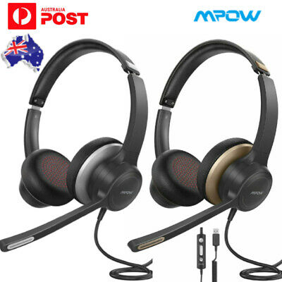 AU35.99 • Buy Mpow Headset Office Gaming Headphone With Microphone Noise Cancelling Laptop PC