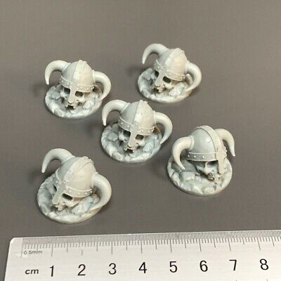 AU6.54 • Buy Lot 5 Skull Hat Miniature For Dungeons & Dragon D&D Figures Board Game Toy