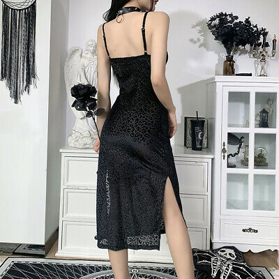 £12.85 • Buy Womens Strap Dress Party Sexy Costume Lady Summer Split Leopard Dress Ball Gowns