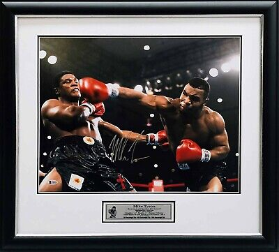 AU495 • Buy Mike Tyson Hand Signed Boxing Photo Framed BAS Beckett Certified COA