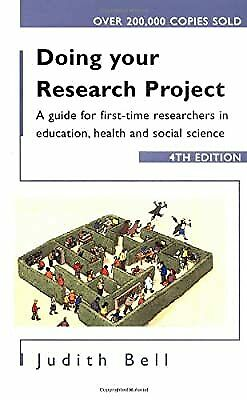 £5.23 • Buy Doing Your Research Project: A Guide For First-Time Researchers In Education, He