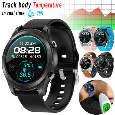AU24.95 • Buy Waterproof Smart Watch Body Temperature Heart Rate Monitor For Android IPhone