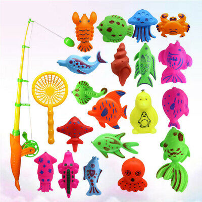 £6.31 • Buy 22PCS Fishing Toy Funny Colorful Fishing Game Playset For Children Toddlers Kids
