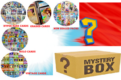 £15 • Buy Pokemon JAPANESE MYSTERY BOX - Sealed Booster Packs Holos Graded Cards + More